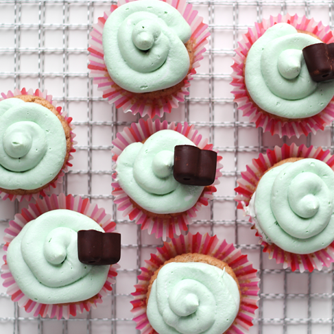 Vegan Lemon Cupcakes with Spirulina CoconutFrosting