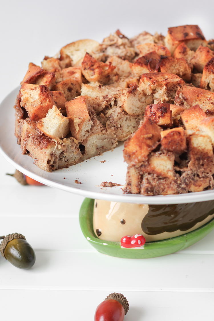Apple Cinnamon Vegan Bread Pudding